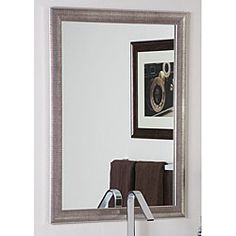 Modern Semi Distressed Silver Mirror