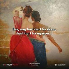 Hugot Quotes Tagalog, Tagalog Qoutes, Pinoy Quotes, Patama Quotes, Chill Quotes, Love Quotes, Hugot Lines, Prayer Verses, Gratitude Quotes