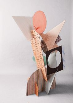 cardboard shape sculpture