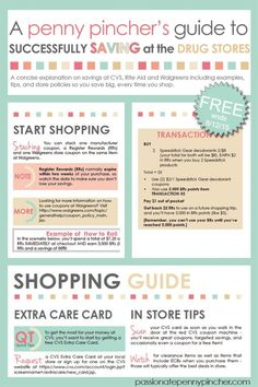 Free Penny Pincher's Guide to Successfully Saving at the Drug Stores-Freebies and Giveaways Blog