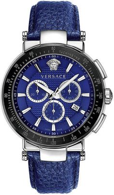 Versace Mens Mystique Sport Watch in Blue for Men