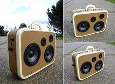 DIY Suitcase Boombox