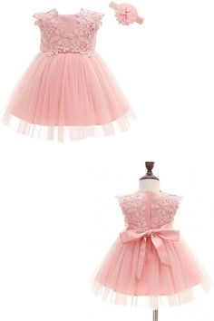 Dresses Kids Girl, Kids Outfits, Flower Girl Dresses, Dress Anak, Baptism Gown, Clothes 2019, Kids Fashion, Fashion Outfits, Crochet Baby Clothes