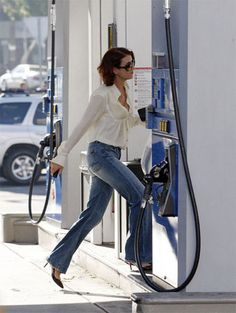 Kate Walsh of Private Practise was snapped wearing a pair of 7 For All Mankind jeans whilst filling her car up with gas in Santa Monica. FacebookTwitterGoogle PinterestTumblrLinkedIn