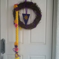 My front door creation for my daighter's Rapunzel/Tangled party!