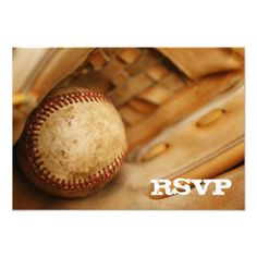 Baseball Themed RSVP Custom Invite