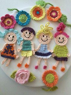 Crochet Applique Patterns Free, Crochet Bedspread Pattern, Crochet Patterns Amigurumi, Crochet Blanket Patterns, Baby Knitting Patterns, Crochet Motif, Crochet Designs, Crochet Dolls, Crochet Flowers