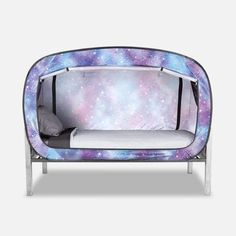The Bed Tent Unicorn Galaxy Green Rooms, Bedroom Green, Floor Bed Frame, Bed Tent, Types Of Beds, Cool Chairs, Blue Chairs, Desk Chairs, Shared Rooms