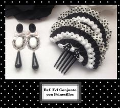 CONJUNTOS | Carali´s. Flamenco y Complementos. Diy Hair Accessories, Diy Hairstyles, Jewelery, Cufflinks, Bows, Clothes, Kuchen, Hair Combs, Head Bands
