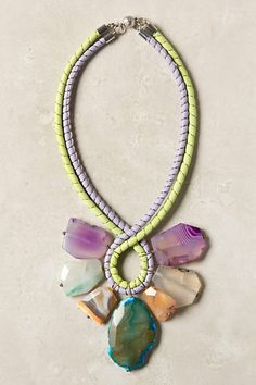 seven stone necklace #anthropologie