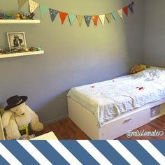 Déco chambres enfants, guirlandes fanions – Completement Tomate ! #DIY #kids #deco