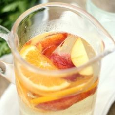 Light and Refreshing White Sangria with Peaches & Oranges