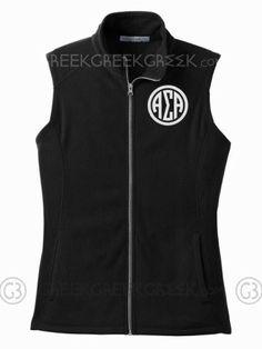 Alpha Sigma Alpha Ladies Microfleece Vest