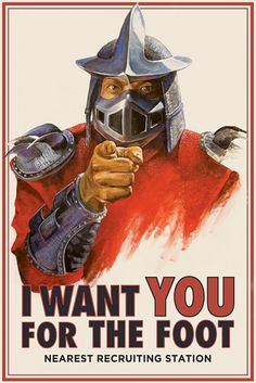 TMNT Foot Clan Recruiting Poster by Brandon Schaefer & Emily Bawn Pfffft. XDDD This is so awesome.
