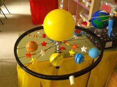 Afbeeldingsresultaat voor maqueta de los nueve planetas del sistema solar para niños Space Projects, Space Crafts, School Projects, Projects For Kids, Diy For Kids, Crafts For Kids, Make A Solar System, Solar System Model, Solar System Projects