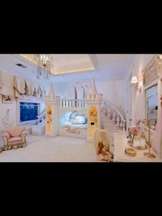 The custom woodwork in this princess room is out of this world. The custom woodwork in this princess room is out of this world. The custom woodwork in this princess room is out of this world.
