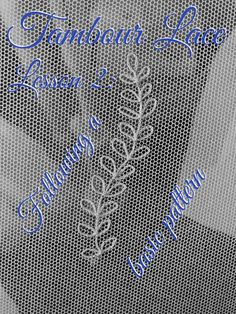 Glorious Sewing Basic Tips Ideas. All Time Best Sewing Basic Tips Ideas. Tambour Beading, Tambour Embroidery, Embroidery Fabric, Hand Embroidery Patterns, Lace Patterns, Cross Stitch Embroidery, Sewing Patterns, Bobbin Lace, Needle Lace
