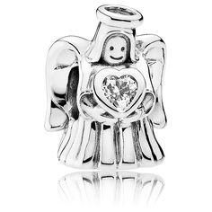 Pandora Charm Engel aus 925 Sterling Silber und Zirkonia Silber, Engel,  Pandora Perlen 4cae7dcc7e
