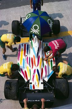 remember the colourful Team Benetton F1 cars from the '80s?