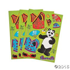 Dress-a-Panda Stickers - OrientalTrading.com