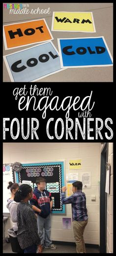Get Them Engaged with Four Corners | A cooperative learning activity