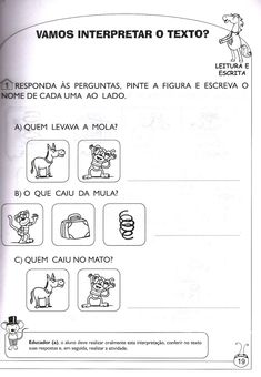 Blog Professor Zezinho : 172 Atividades com a letra M e desenhos para montar atividades