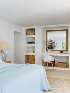 〚 Beautiful renovation of a traditional Spanish house in Ibiza 〛 ◾ Photos ◾Ideas◾ Design Built In Furniture, Beautiful Bedrooms, Home, Beautiful Interiors, Bedroom Interior, House Interior, Home Deco, Hotel Room Design, Spanish House