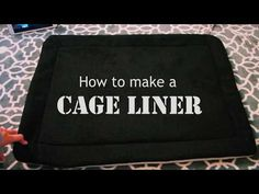 How to make CAGE LINERS for Rabbits! - YouTube