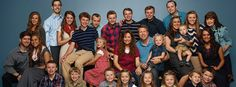 Duggar Family - Christian family who doesn't believe in using contraceptives; 19 kids so far