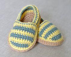 CROCHET PATTERN Baby Espadrilles 3 sizes por matildasmeadow en Etsy