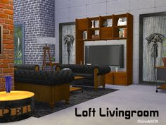 Lana CC Finds - Created By ShinoKCR Living Loft Created for: The...