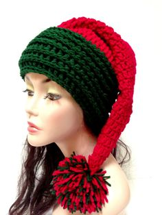 Crochet Christmas Hat. Santa Hat. Winter Fashion by Africancrab, $5.00