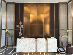 Gold an marble  together add some luxury interior design to any space I Décor Aid