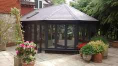 Oasis Home Improvements are privileged installers of the Supalite Roof System. The tiled roof system transforms a conservatory to a room for all seasons. Tiled Conservatory Roof, Warm Roof, Roofing Systems, Oasis, Gazebo, Home Improvement, Outdoor Structures, Seasons, Room