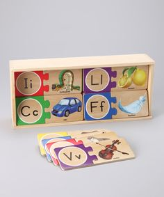 Take a look at this Self-Correcting A to Z Letter Puzzles by Melissa & Doug on #zulily today!