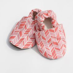 Baby Girl Offset Chevron Pink and Coral 0 3 6 12 by GrowingUpWild