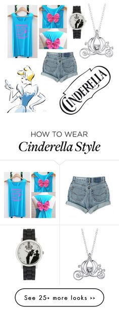 """Cinderella lazy day"" by cupcakesandconverse-1 on Polyvore featuring Disney and Levi's"