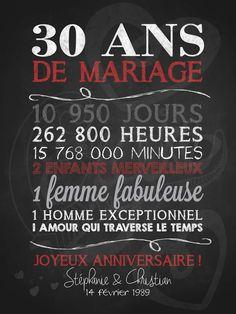 Affiche anniversaire de mariage Célébrons notre amour • La Craie co.