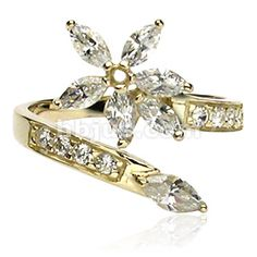 Gold Flower Toe Ring  <3