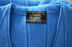 Men's Vintage  Sweater Vintage Cardigan Blue by BuffaloGalVintage