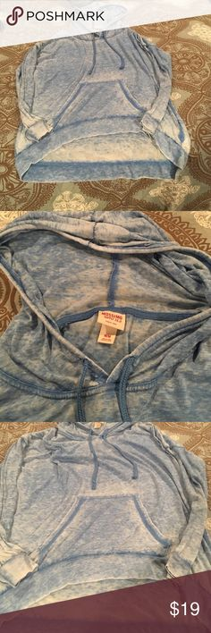 Barely worn blue hooded long sleeve from target!❤️ Barely worn blue hooded long sleeve from target! Shorter in the front than the back! Mossimo Supply Co Tops Tees - Long Sleeve