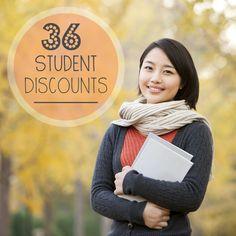 36 amazing student discounts!