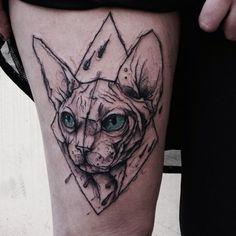 Kamil Mokot's Tattoos, Blackwork Mixed With Watercolor And Geometry   kickassthings.com