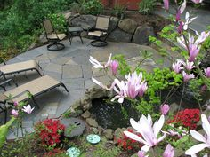A secluded patio sitting at the edge of a greenbelt in West Linn, OR