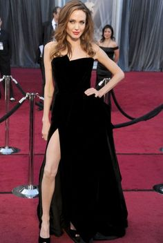 Angelina Jolie in VERSACE at the Academy Awards!