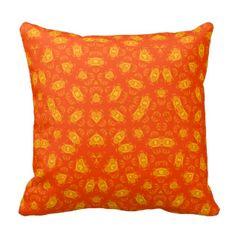 Red Orange Pillows, Red Orange Throw Pillows