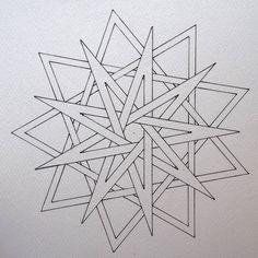 #geometry #symmetry #handmade #mathart #regolo54 #escher #star