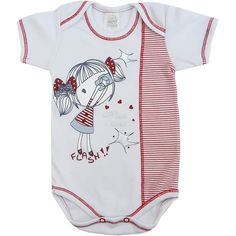 Body Bebê Menina Flash! Branco - Patimini :: 764 Kids | Roupa bebê e infantil