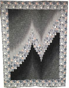 Image result for two fabric bargello quilts | Modern Quilts ... : two fabric quilts - Adamdwight.com