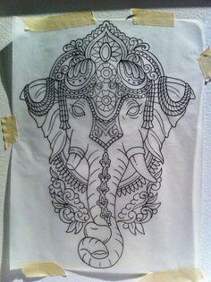 tattoo sketches of lotus - Bing images Ganesh Tattoo, Mandala Tattoo, Trendy Tattoos, New Tattoos, Tatoos, Tattoo Sketches, Tattoo Drawings, Henna Designs, Tattoo Designs
